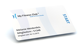 My Fitness Club Card Start